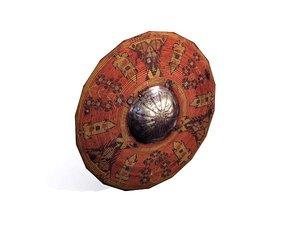 free ottoman shield 3d model