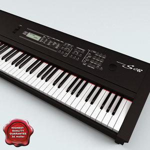 3d model synthesizer yamaha s08