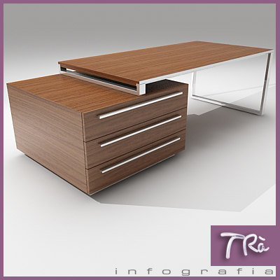 office table aplomb 3d model