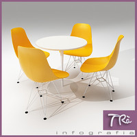 3d model of bar table eames