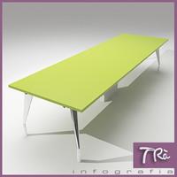 office table farm 3d model