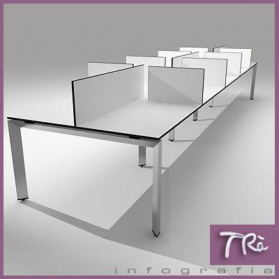 3d max office table ottima