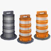 3d traffic drum