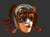 Venetian Carnival Mask 08
