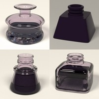 3d model ink pot inkpot