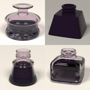 3d model ink pot inkpot
