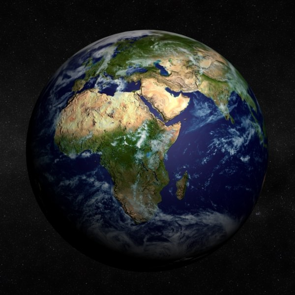 earth land ocean 3d max