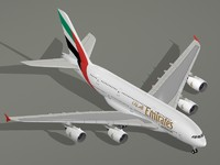 max airbus a380-800 emirates airline