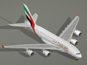 max airbus a380-800 emirates airline