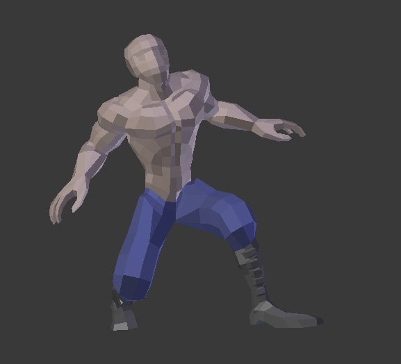 Low Poly Character Modeling Blender : Free base mesh character rigging d model