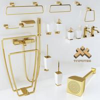 bathroom accessories gessi mimi 3d model