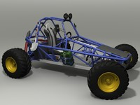 3d max buggy details car