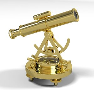 brass alidade compass 3ds
