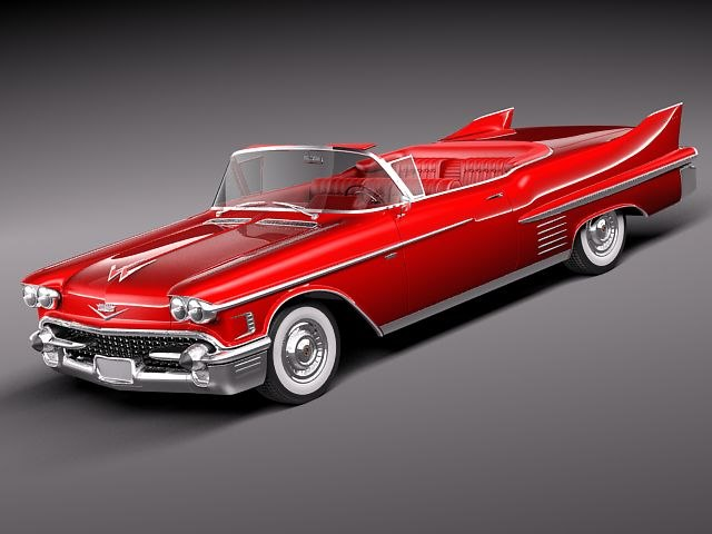 3d model cadillac deville convertible luxury