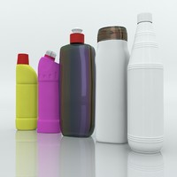 cleaning products 3d obj