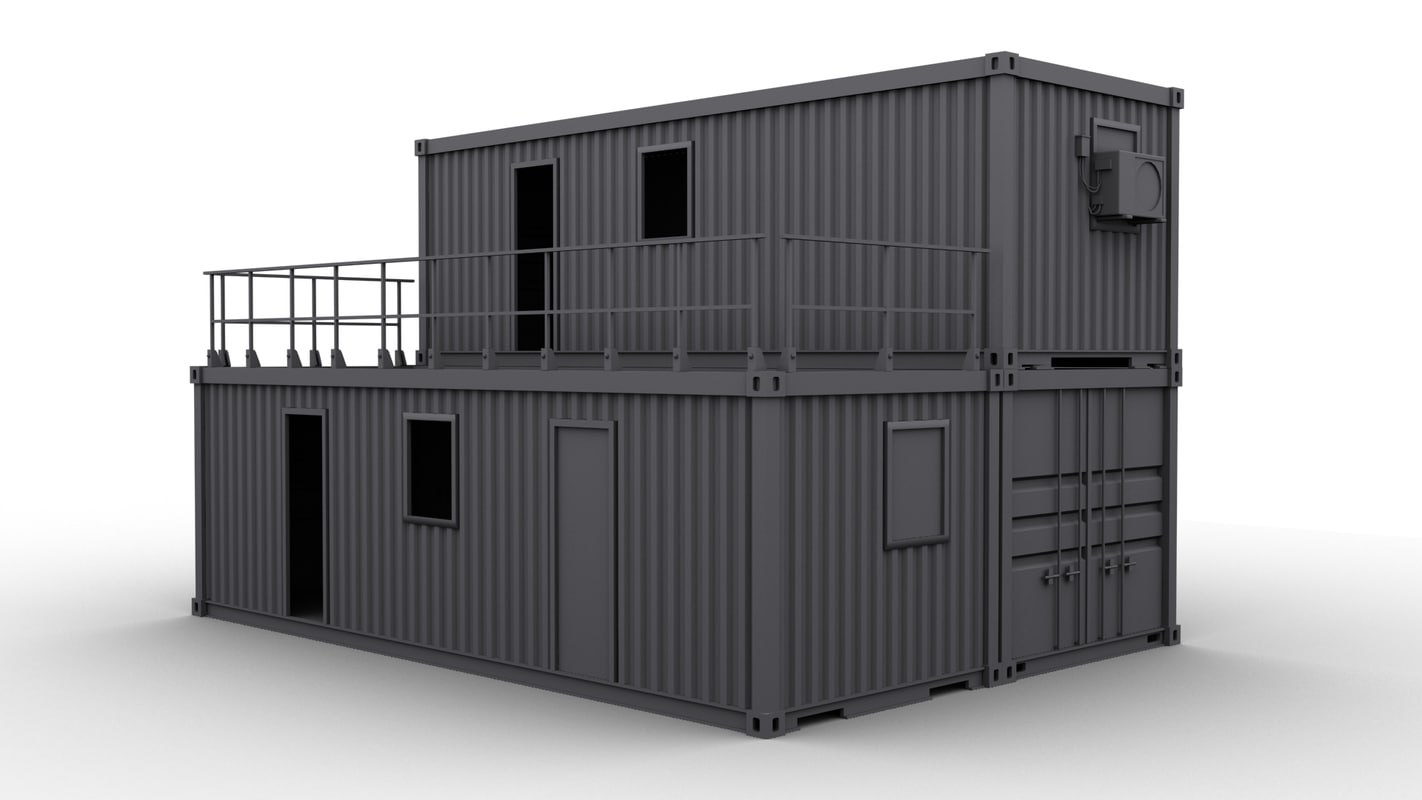container construction building 3d max