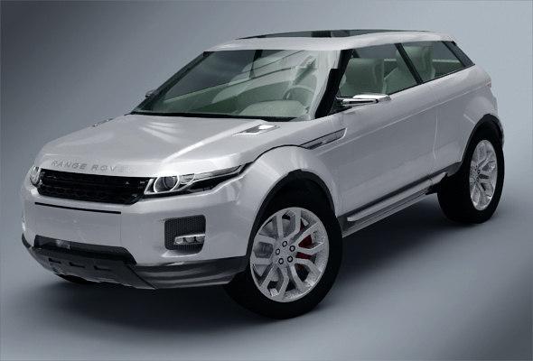 3d range rover evoque coupe