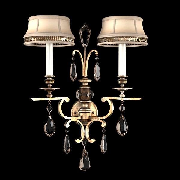Luxury Candle Wall Sconces : fine art lamps 3d 3ds