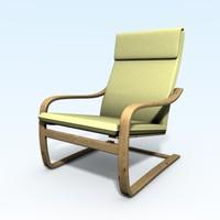 3d model relax armchair