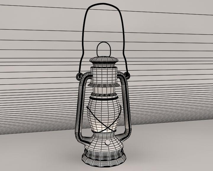 3ds max kerosene lamp