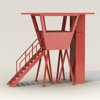 3d model lifeguard cabin