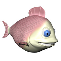 max fish cartoon character rigged