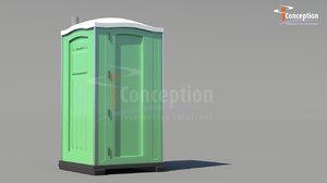 portable toilet obj