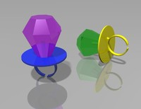 ring pop candy 3d model