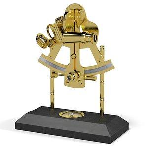 sextant compass 3d model