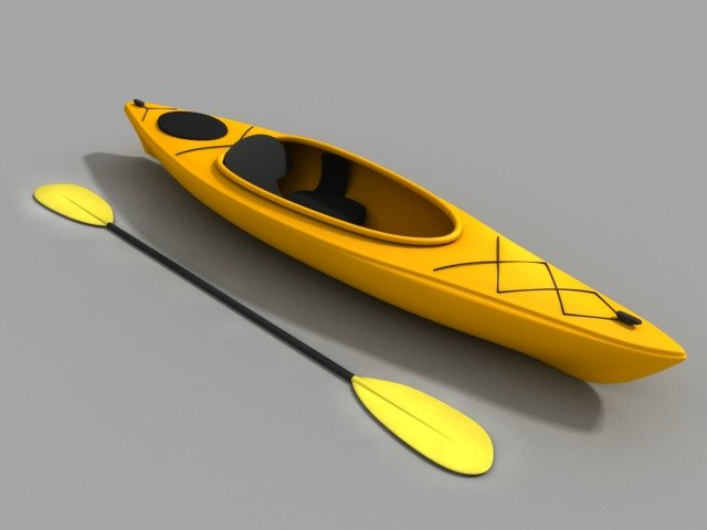 kayak sit 3d max