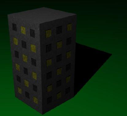 tower building 3d blend