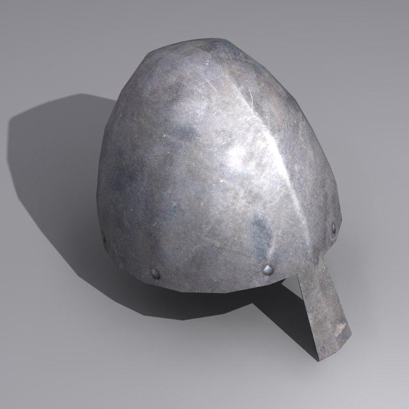 medieval helmet 3ds