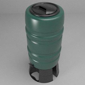 rainwater butt 3d model