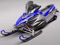 yamaha apex snowmobile snowbike 3d model