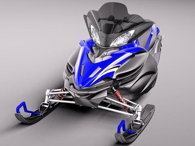 Apex Snowmobile Snowbike 3d Model