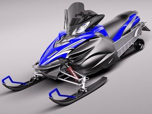 yamaha apex snowmobile snowbike 3d model