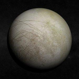 jupiter europa moon 3d max