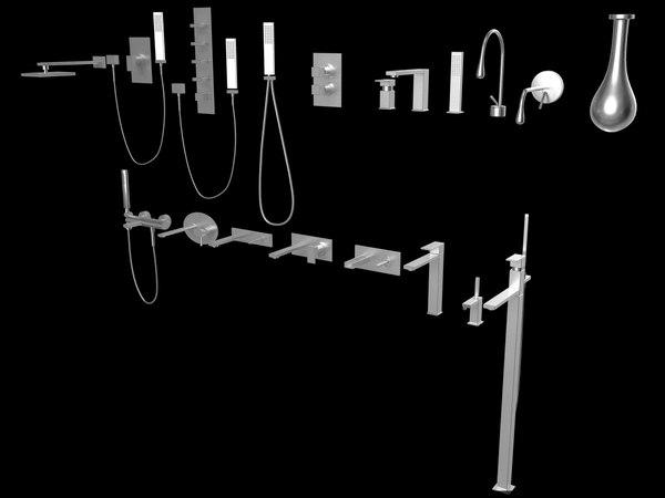3d gessi bathroom fixture model