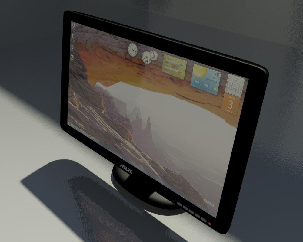asus computer monitor 3d max