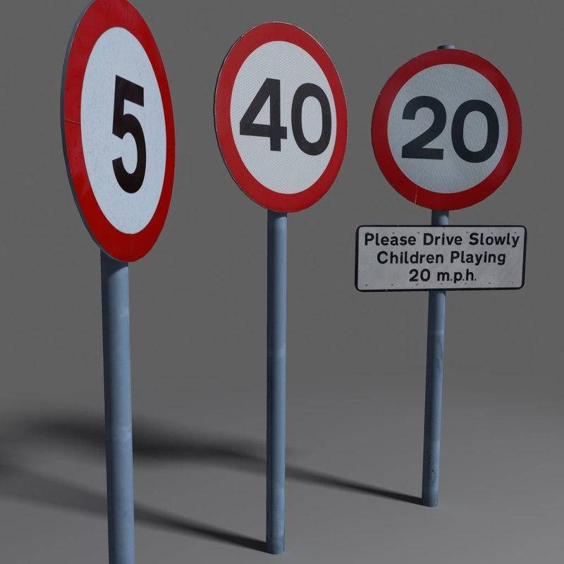 3d model speed limit coz110101394