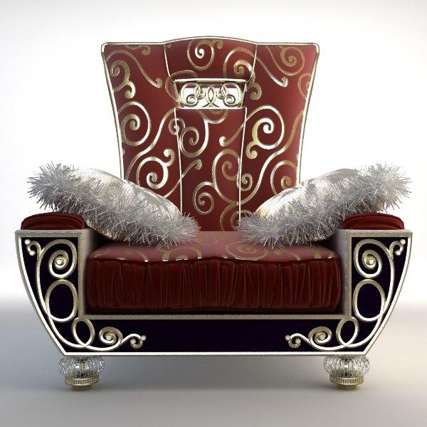 3d armchair alta moda