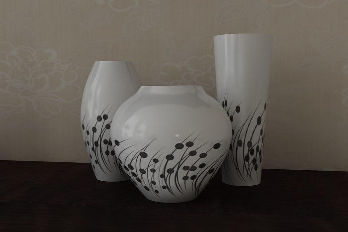 maya vase photorealistic
