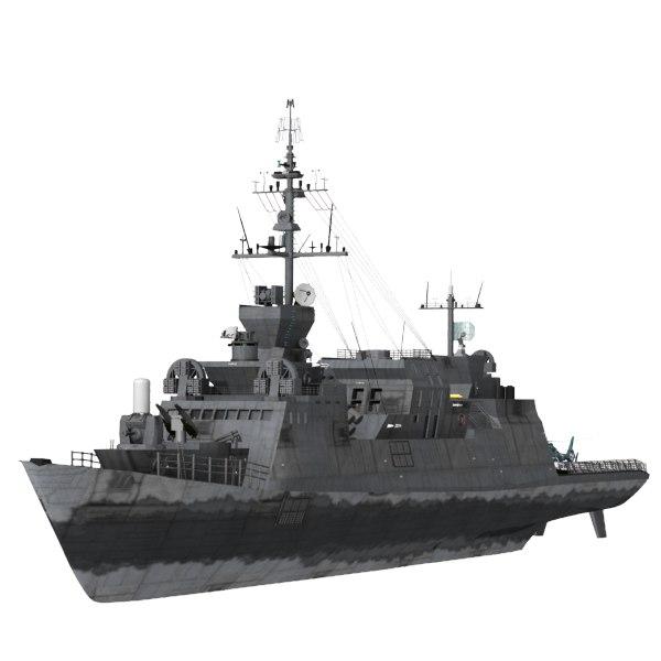 3d c4d battle ship