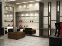3d model interior shoe store