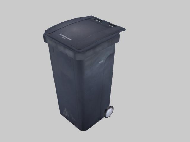 3d wheelie bin model