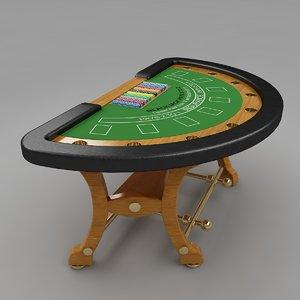 blackjack table 4 3d model