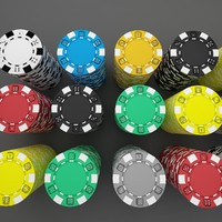 casino chips 3d max