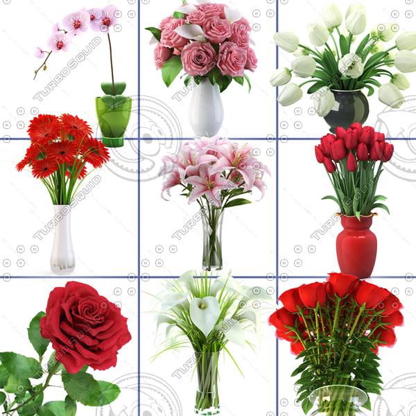 realistic flowers vol 1 3d 3ds