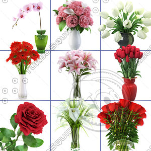 realistic flowers vol 1 3d 3ds