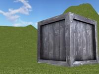 crate asset fantasy obj